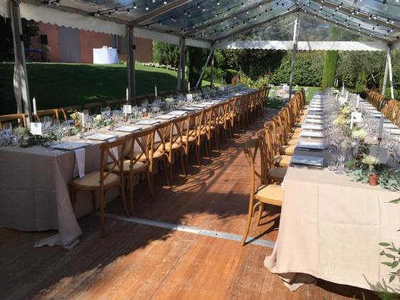 Tente toit transparent - chaises Rémy